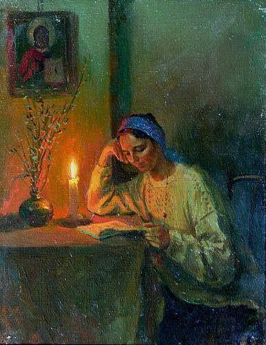 À luz de vela, 1993 Alexey Shalaev (Rússia, 1966) Óleo sobre tela