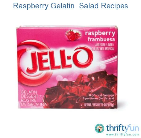 This page contains raspberry gelatin (Jello) salad recipes. Make a beautiful red raspberry Jello salad for your next dessert.