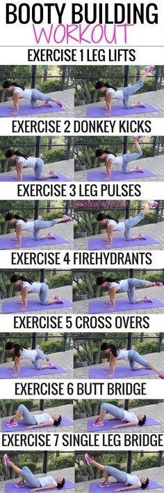 Butt Exercises that really work!  Do them all for a complete booty building workout : ):