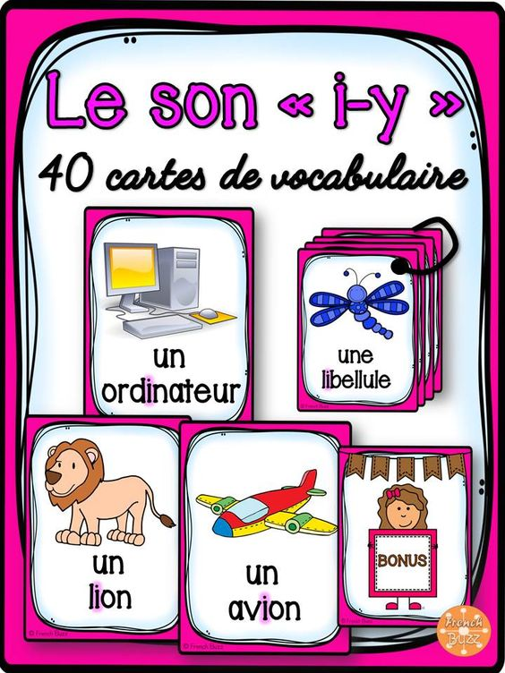 le son i 40 cartes de vocabulaire french sounds filhos. Black Bedroom Furniture Sets. Home Design Ideas