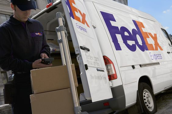 FedEx Express delivery vehicle and driver in the UK FedEx - fedex jobs