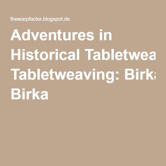 Adventures in Historical Tabletweaving: Birka 6