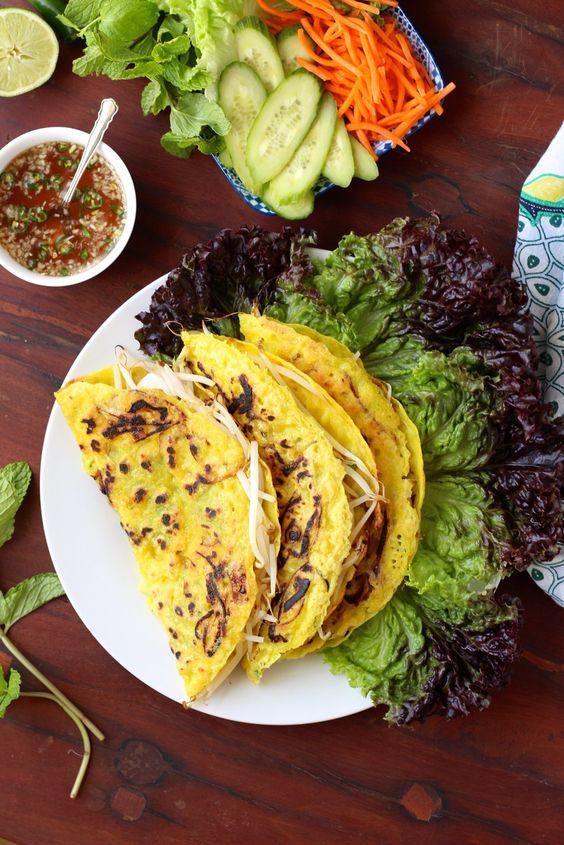 Banh Xeo - Vietnamese Crepes - Borrowed Salt