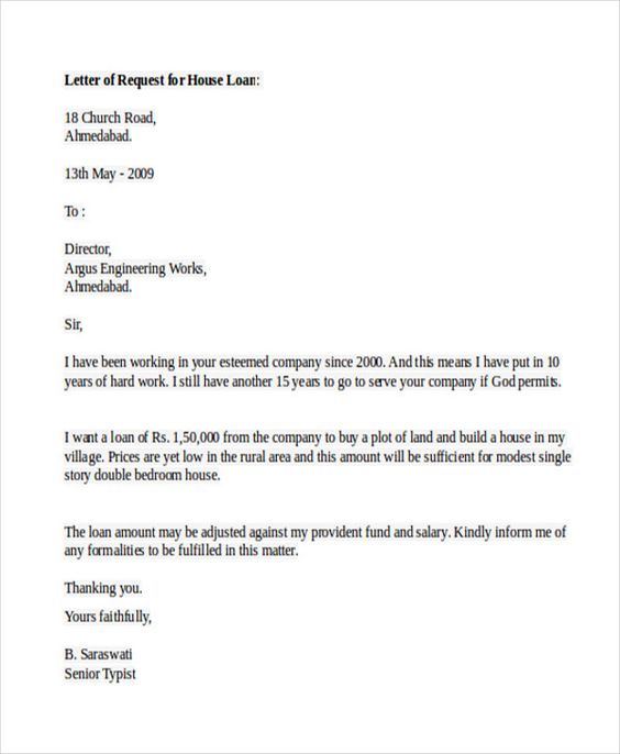 sample loan application letters free example format create - pre approval letter