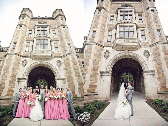 Law Quad Posed Bridal Party