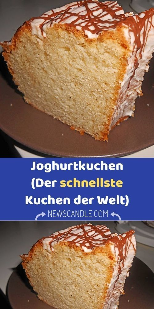 Zutaten 4 Ei Er 2 Becher Zucker 1 Becher Ol 1 Becher Joghurt 4 Becher Mehl 1 Pck Backpulver Zubereitun Joghurt Kuchen Schneller Kuchen Kuchen Rezepte Einfach