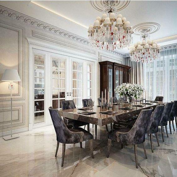 افكار عصرية ومبدعة لتصميم غرف الطعام 2019 Amazing Dining Room Design Ideas Elegant Dining Room Dining Room Contemporary Luxury Dining Room