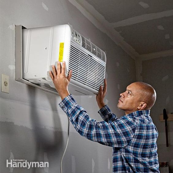 if you start the installation in themorning, you'll be enjoying cold air bymid-afternoon. a ceiling fan helps circulatethe air and eliminate hot spots, butif the a/c unit keeps you cool enough,you can skip the fan. we'll show youhow to pick the right size unit for yourgarage and how to install it in the wall.