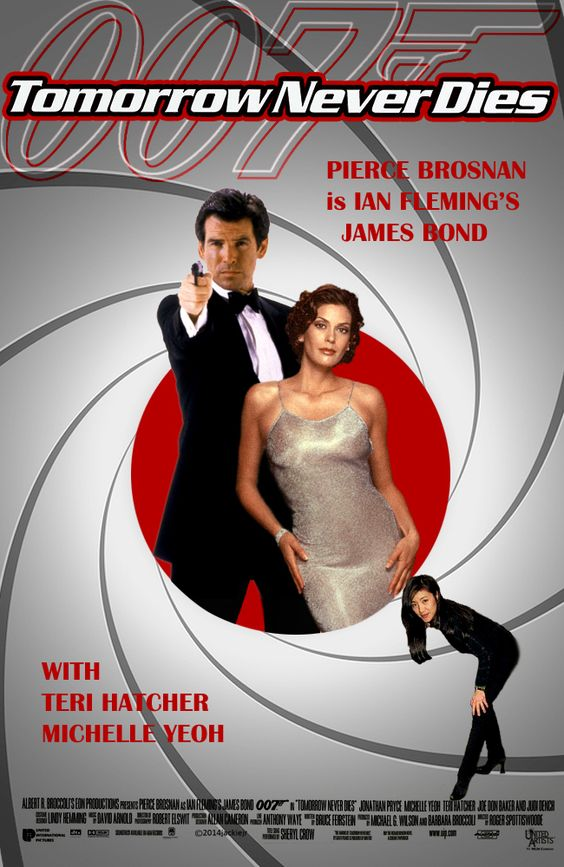 Tomorrow Never Dies James Bond Poster Fan Art. Collage by ...