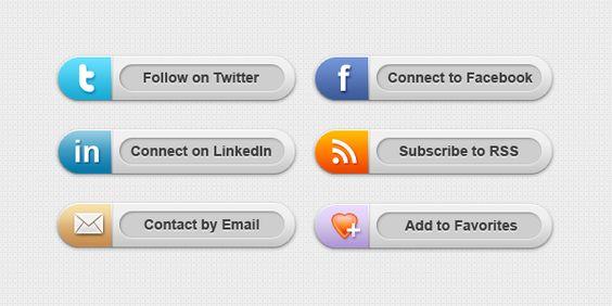 Descargar Badges Redes Sociales en psd Gratis!