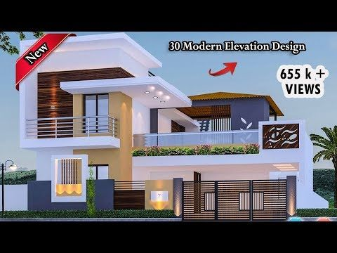 30 Beautiful Modern House Front Elevation Design Double Floor House Designs Youtube Front Elevation Designs House Designs Exterior House Elevation