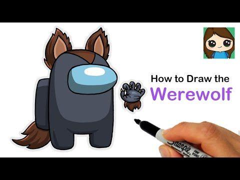 How To Draw Among Us Werewolf Halloween 1 Youtube Cute Drawings Werewolf Drawings