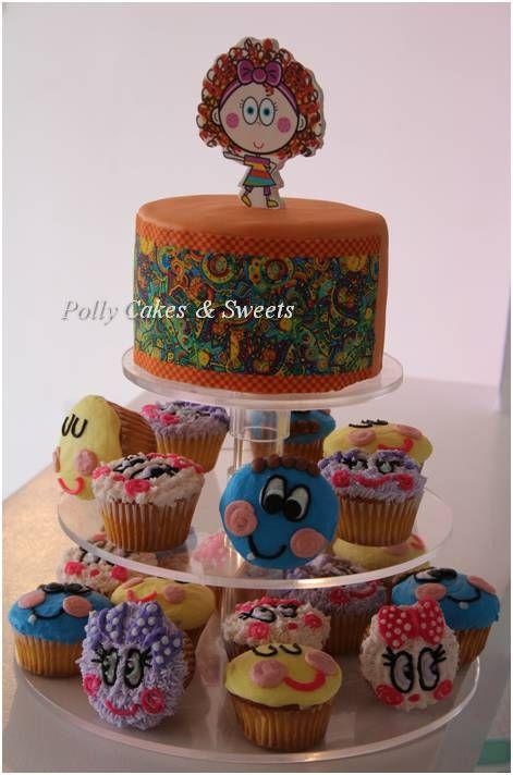 Pastel Y Cupcakes De Distroller Y Neonatos Cake