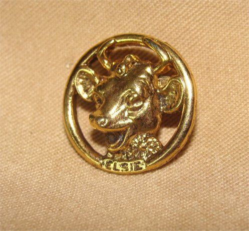Vintage Elsie The COW Pin BROOCH For BORDEN Dairy by GypsySeller, $5.99