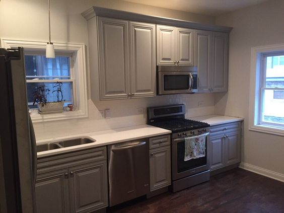 Gray Cabinets  For the Home  Pinterest  Cabinet Refinishing