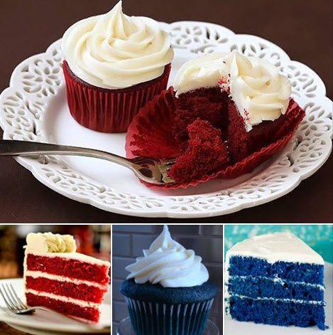 Coberturas para bolos Red e Blue Velvet  Ajude digitanto UP nos comentários e compartilhando Tenha um Ótimo dia  :-)