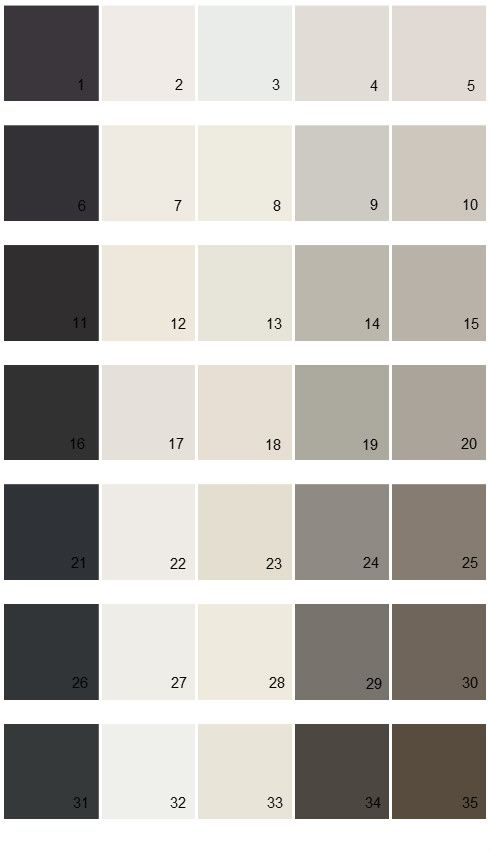 26 black of night sw6993 27 pure white sw 7005 28 for Creamy grey paint color