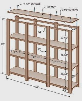 Make Your Own Bookshelf With 2x4s And 2x2s Diybookcase