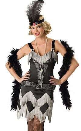 Flapper costume.
