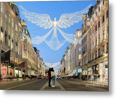 Christmas Lights In Regent Street London Metal Print By Tim Grist In 2020 London Poster London Artist London Pictures