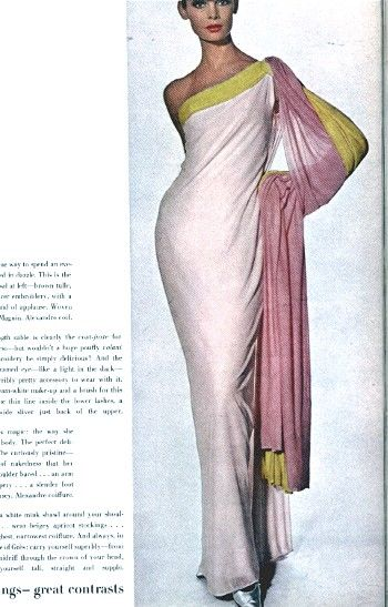 Magnficent chiffon jersey gown by Madame Gres