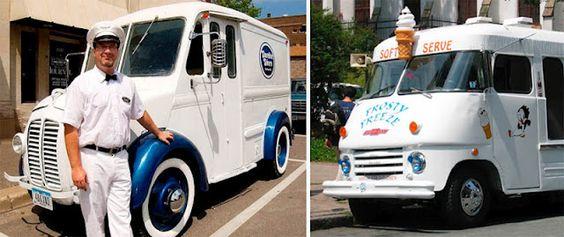 Vintage Ice Cream trucks. Soft serve ice cream. Yum