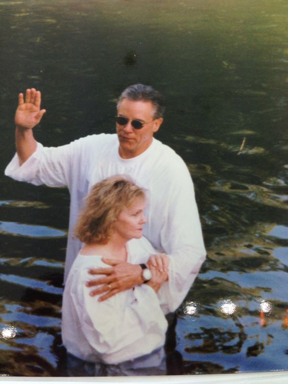 Being Baptized in the Jordan River by Dr. O. S. Hawkins.