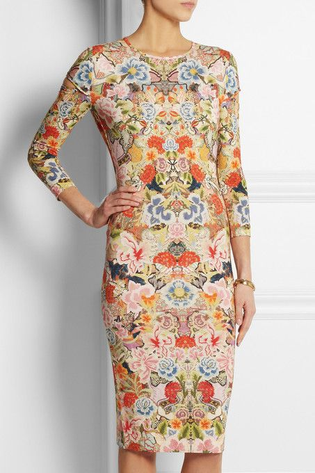 Floral print stretch-jersey #dress by Alexander McQueen. #prints #spring #summer #fashion