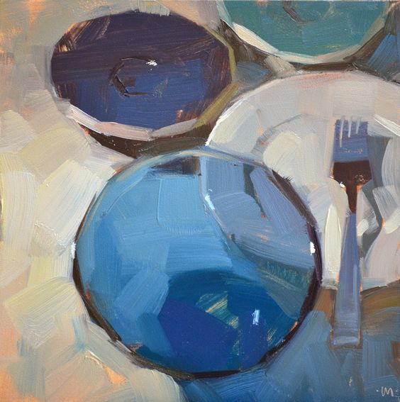 Carol Marine's Painting a Day: Receding Dishes