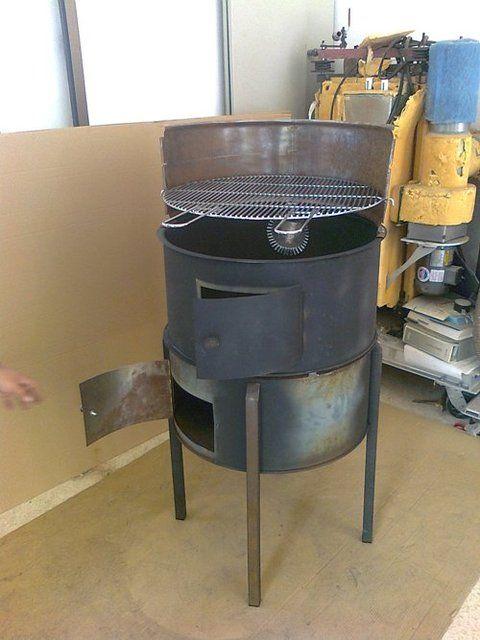 Barbacoa hecha con un bid n tonel quieres ver m s herramientas visita el foro de asadores - Ver hornos de lena ...