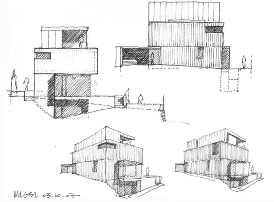 Steinmetzdemeyer sketch mlgsl architectures esquisses for Application dessin plan maison