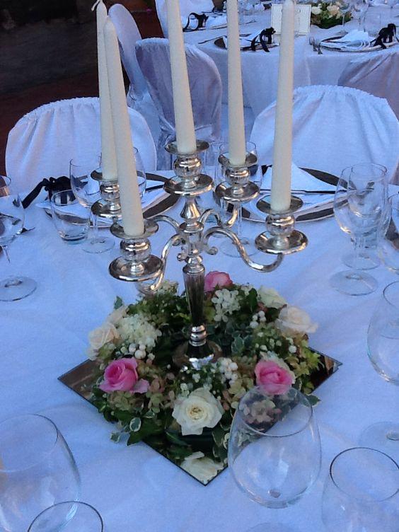 Matrimonio In Giugno : Centrotavola matrimonio con coroncina e candelabro giugno