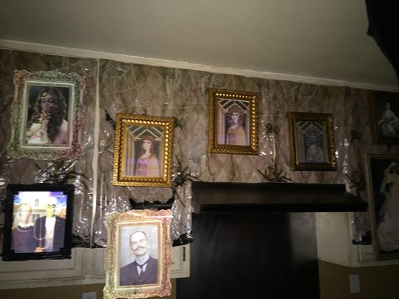 Haunted mansion kitchen halloween 2015 my own props for Haunted dining room ideas