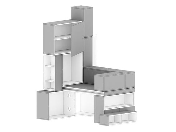 Office & Workspace:Hypernuit Offices Contemporary Creative Picture Of Cabinet Modern Grey Display Shelves Home Decorators Collection Manufac...