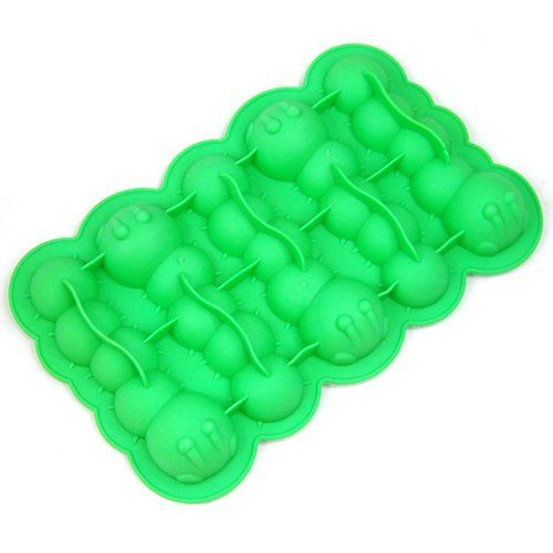 Caterpillar Ice Cube Tray by TEAMMOLD. $3.99. A cup of gorss caterpillar make your drinking more funny. Made of non-toxic silicon food grade TPR. Be great for party or gift purpose. With orginal retail package. Side:7.6''x4.7''x0.8''. PS: It is recommended that keep item in 50? water to remove the smell for first use.