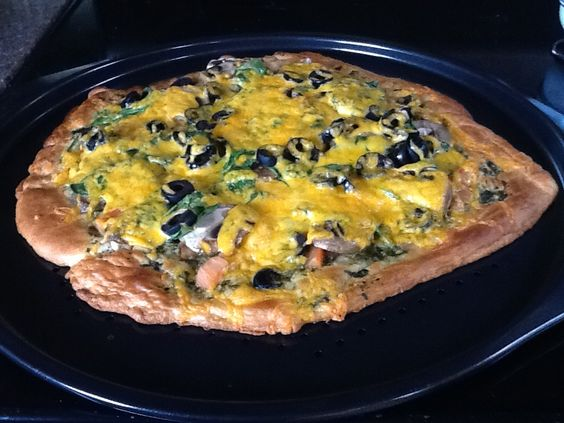 Yummy pesto pizza on a crescent roll.... Thanks Pinterest... It was a big hit