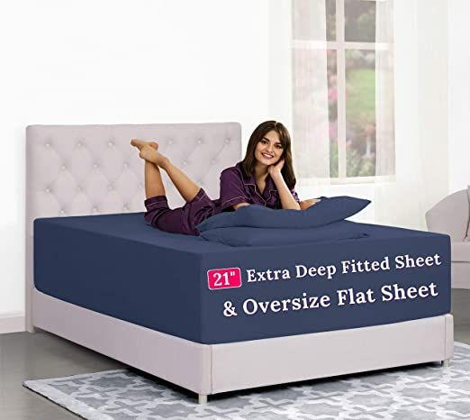Pin On Ok Queen size deep pocket fitted sheets