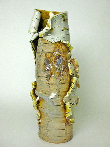 Lenore Lampi, birch bark vase