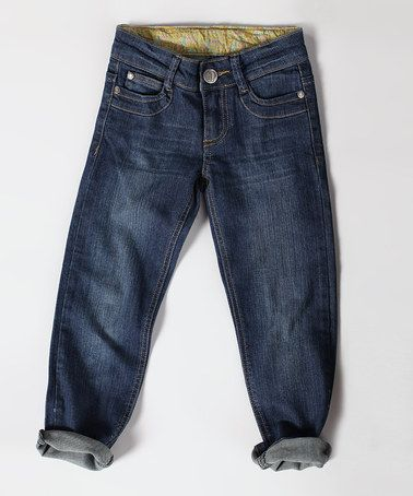 Take a look at this Dark Wash Skinny Jeans - Toddler & Girls by Down East Basics Girls on #zulily today!