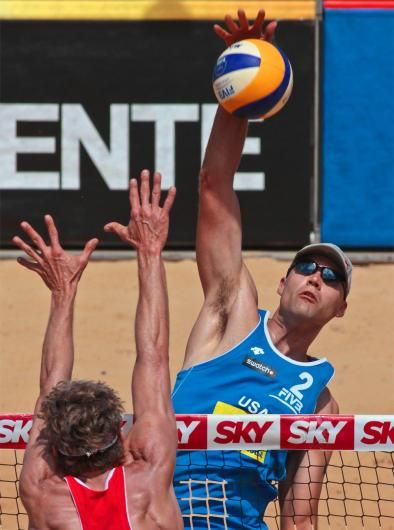Phil Dalhausser, beach volleyball 9/17  Standing 6-9, Phil Dalhausser is an imposing presence in the sand. He and Todd Rogers are the defending Olympic champions in this event. Because of his stature and success in China, Dalhausser earned the nickname Beijing Beast.