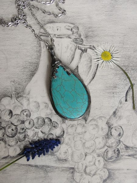 Pendants – Pendant, Necklace, Howlite  – a unique product by Jewelry_Beads_Amber_Shop on DaWanda