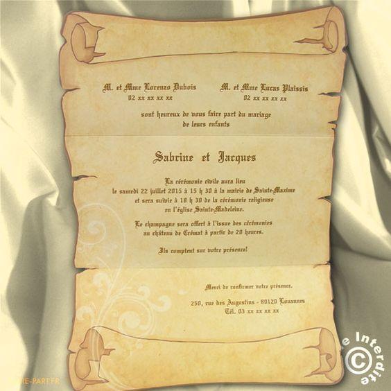 carte de remerciement mariage parchemin recherche google - Carte De Remerciement Mariage Pas Cher