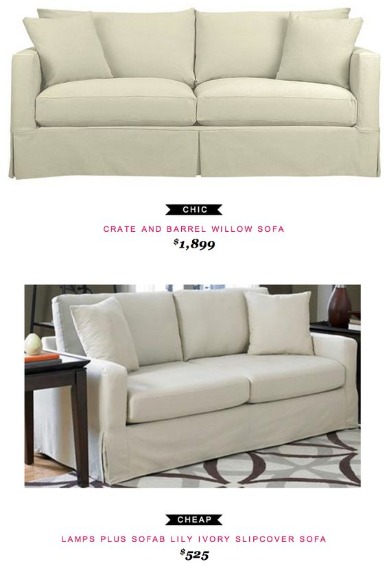 Slipcover Sofa Lilies And Crate And Barrel On Pinterest