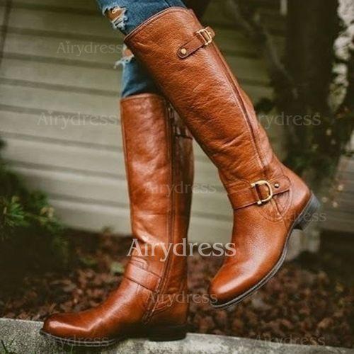 Comprar unas botas de cuero Mango   Moda para Mujeres
