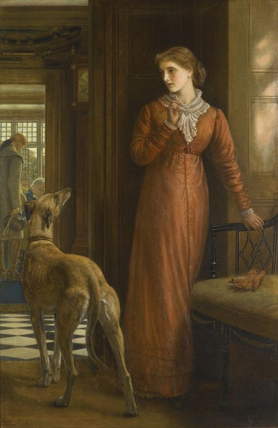 ⍕ Paintings of People & Pets ⍕ Arthur Hughes | Uncertainty. 1878