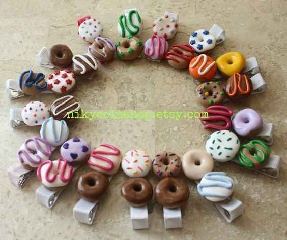 Donuts Alligator Clip by nikycoleshop on Etsy, $4.00