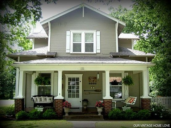 Porch Posts Craftsman Bungalows And Porches On Pinterest