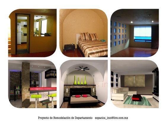 Proyecto de Remodelación Interior de Departamento en Morillotla, Cholula, Puebla. Por espacios_inn@live.com.mx