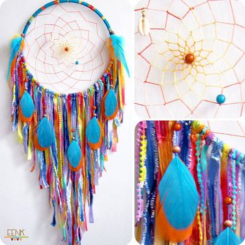 Calypso the Island Sea Nymph Large Native Style Handwoven Dream Catcher #diy #crafts