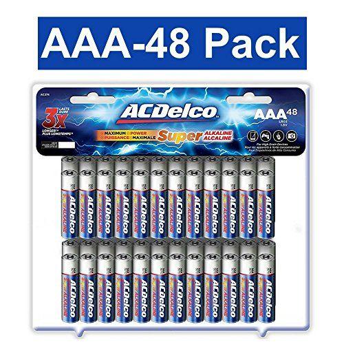 Acdelco Aaa Super Alkaline Batteries 48 Count Alkaline Battery Acdelco Aaa Batteries